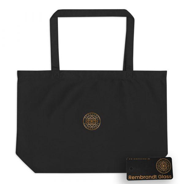 Rembrandt Glass Logo Large organic tote bag